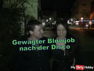 Gewagter Blowjob after the disco