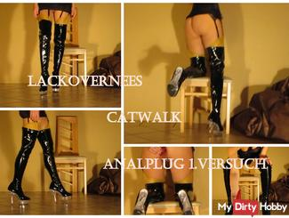 Patent leather boots, stockings will be presented to you