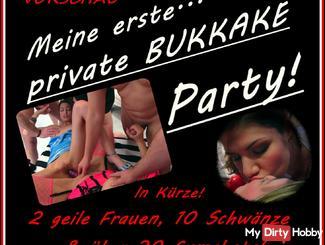 Preview on my first private bukkake party!