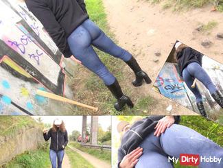 Cameltoe Jeans Leggings