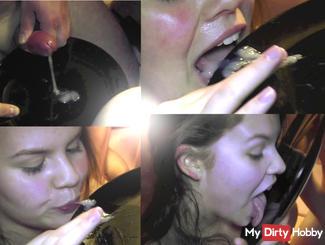 Sperm plate licked empty! Want draufspritzen sometimes?