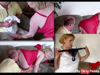 Caught TV technician as lingerie sniffer