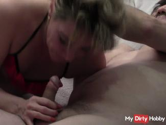 be after sex with the neighbor cock again blowing hard