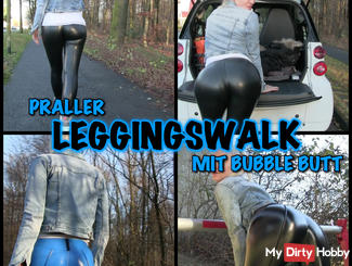 Praller LEGGINGS WALK - Bubble Butt and Cameltoe Posing