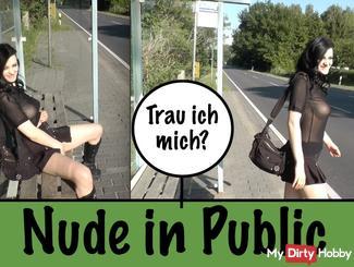 Shamelessly masturbating at the bus stop ...