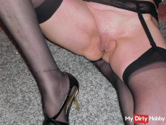 Nylons with seams for lovers in high heels
