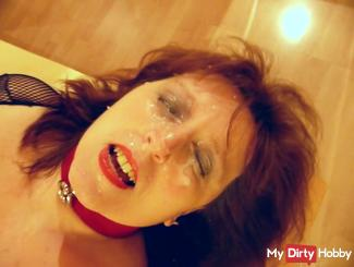 Slave begs for a facial insemination