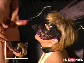 Glamour Lady In Satin Gets Mouthfucked