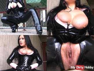 Fucked in latex catsuit part 2