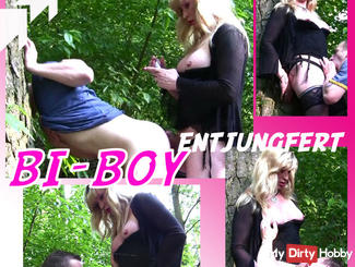BI-Boy in the woods Anal deflowered