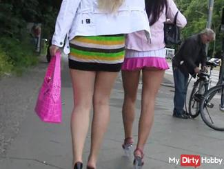 Upskirt sluts and Public Piss