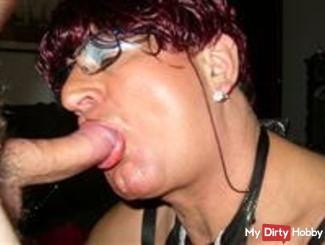 Tranny Irma getting the hot sperm in her mouth