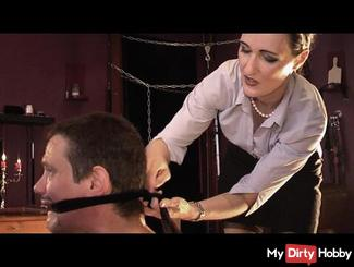 Manager Training - She is the Boss, you are the looser PART 2 hard nipples play