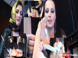 Tickle the silk scarf slave togheter (part 2)