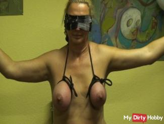 Breasts tied ...