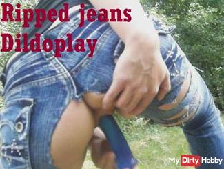Ripped Jeans Dildo Play