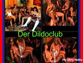 The dildo Club 8 horny pussies in nylons
