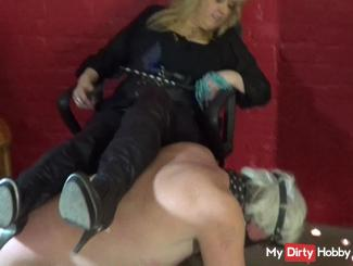 Slave serves as a bench, a very long time