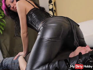 leather pants facesitting