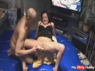 Dildo - lick fumbling, eggs, Blowjob