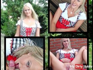*** Sweet dirndl without rubber fucked ***