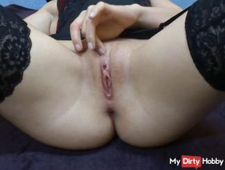 My first video with my pierced Pussy. Watch me cum!