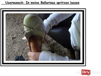 Userwunsch: in meine Ballarinas spritzen lassen