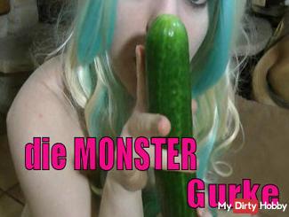 Teeny Manga - Monster Cucumber blasts holes fuck