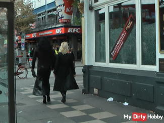reeperbahn-walk with a TV Whore