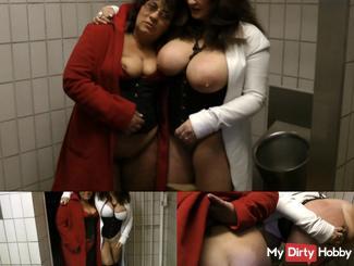 Heidi & Sandra drunken Drecks pussies vulgar to Siff-loo!