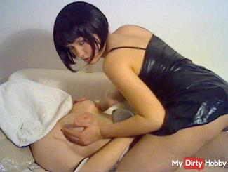 TITS SPRAYED at the thick of my SLAVE!