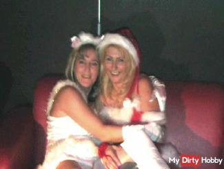 Christmas Gang-bang in porno cinema