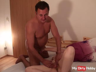 Shagged pussy licking fingers