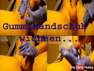 Rubber glove wanking ...