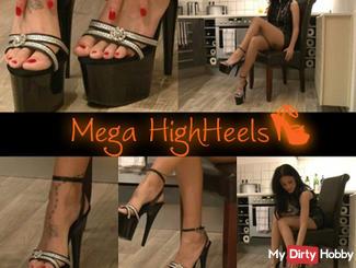 Mega high heels dominatrix