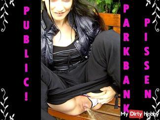 PUBLIC! PARK BENCH Piss!