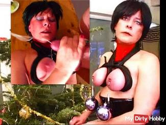 Cleanup at the Secret House - tits tied, clamps, weights