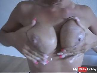 Eingecremt breasts horny