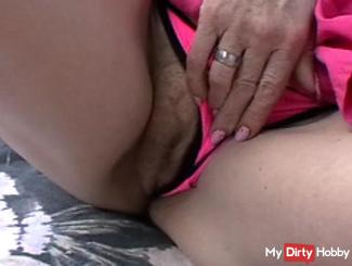 legs and pussy in the swimming-pool