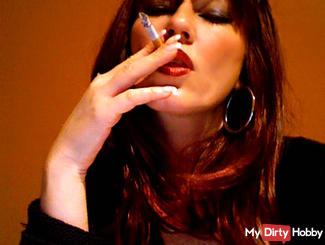 Julie is smoking a cigarette