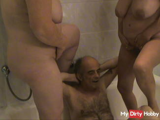 Golden shower by a horny woman