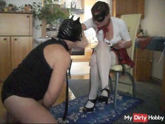 Leak the heels of your mistress