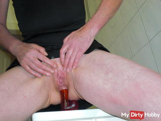 Anal fucked herself with dildo part 1
