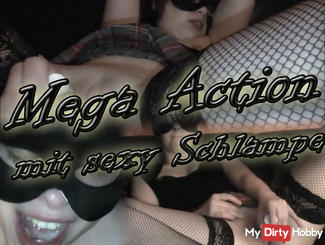 Mega action with sexy bitch