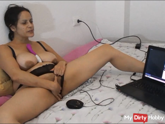 Playing With Myself Watching 1 Of My BF's Wank His Cock For ME