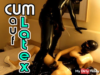 Cum on my latex body