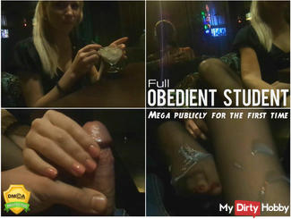 Obedient student. Mega publicly. FULL