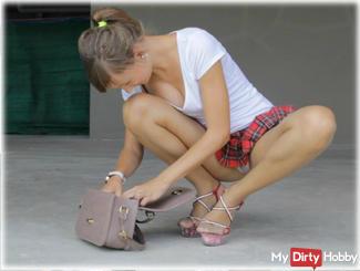 School red skirt