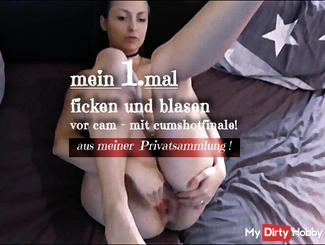 Private!! My first time fucking and blowing in front of the camera - with facial insemination