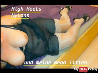 Heels shiny Nylons